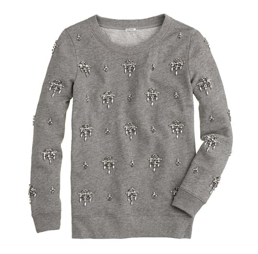 The only thing better than a comfy sweatshirt is one that's just a little dressed up. This jeweled chandelier sweatshirt ($168) is the luxest kind of loungewear that was made for pairing with slim leather trousers or a fitted pencil skirt.