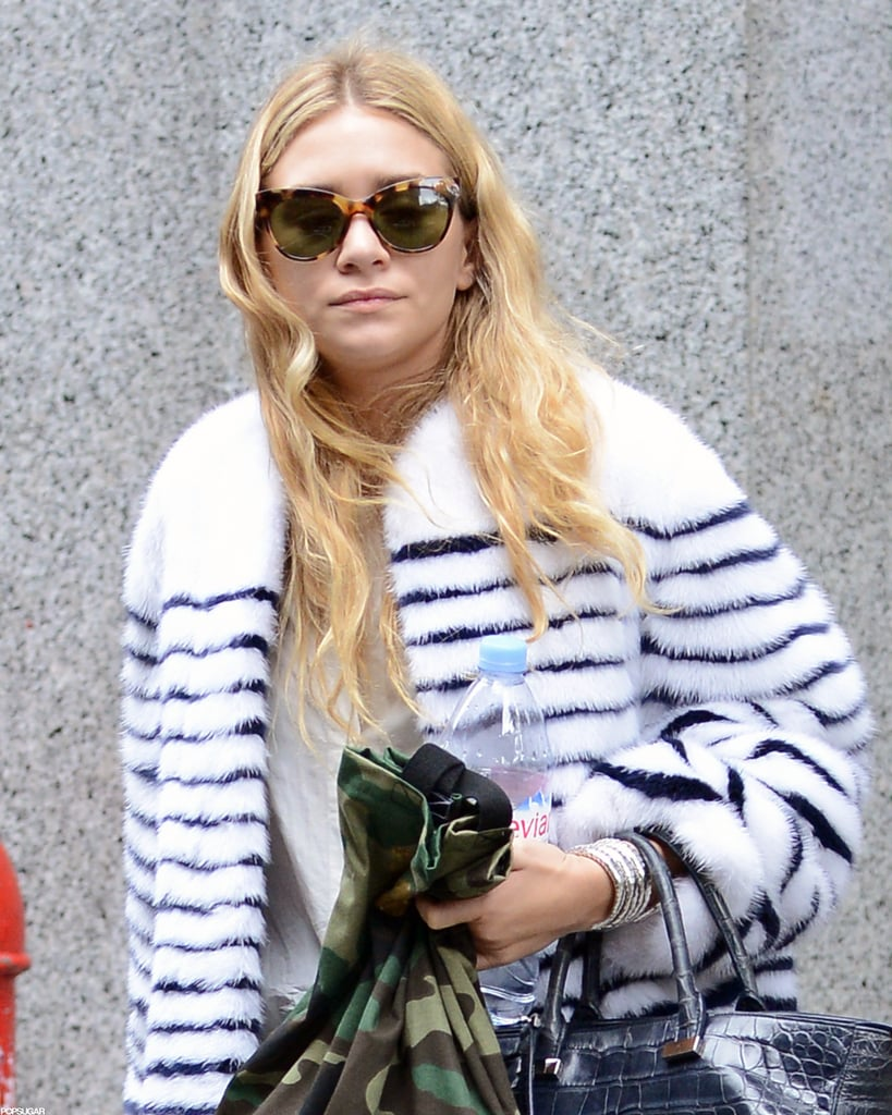 Ashley Olsen sported a pair of sunglasses.
