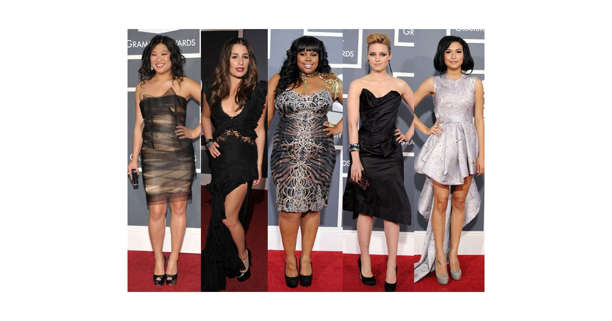 Glee Girls Grammys 2011 Popsugar Beauty