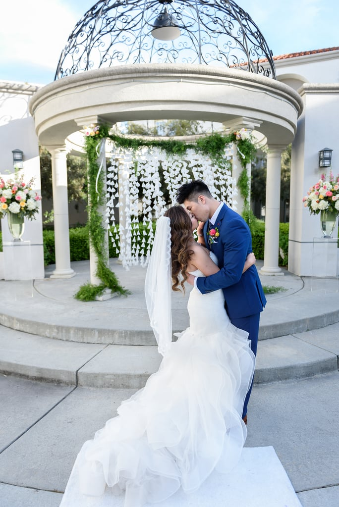 "Johnny and Vickie go all the way back to grade school, when they used to hang out at the bus stop together. Johnny popped the question while they were scuba diving at Walt Disney World, so they had to have an ""Under the Sea""-themed wedding to follow. See the wedding here!"