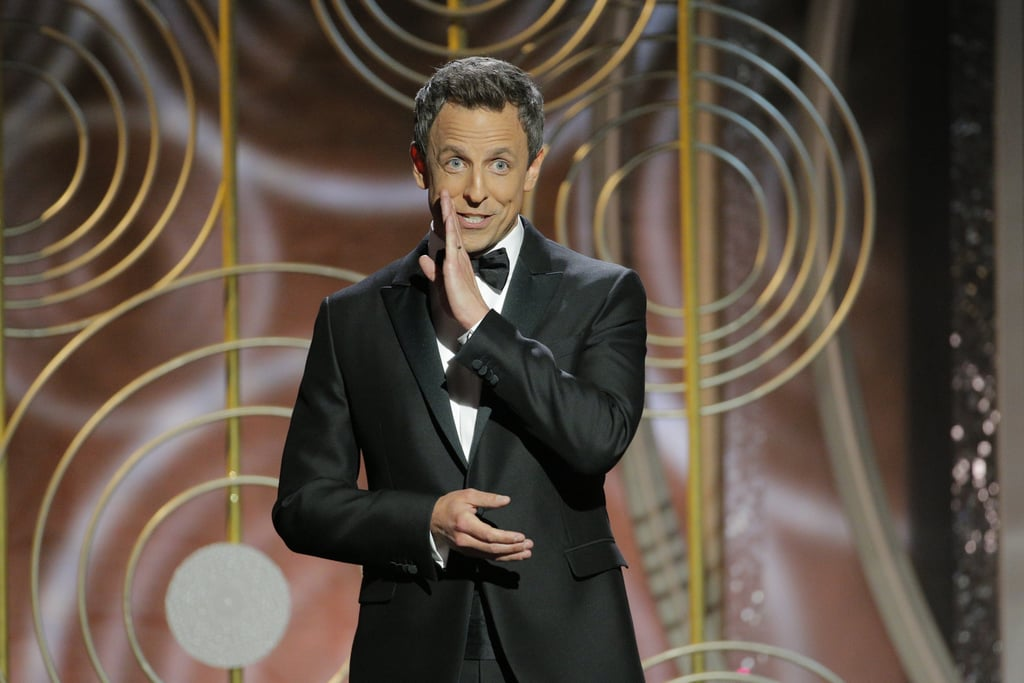 """""""Welcome, ladies and remaining gentlemen."""" — Seth Meyers while opening the show, in reference to the myriad firings, suspensions, and retirements that have come as a result of the #MeToo movement."""
