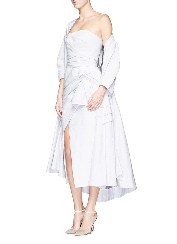 Maticevski Contoured Ruched Strapless Dress ($1,440)