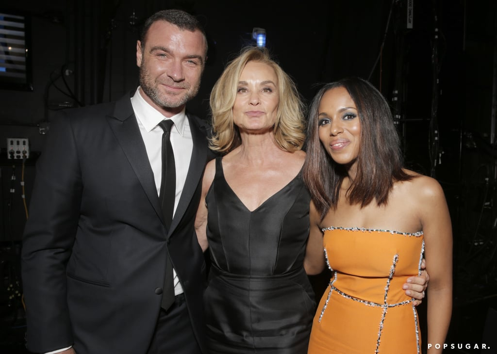 Liev Schreiber, Jessica Lange, and Kerry Washington got together backstage.