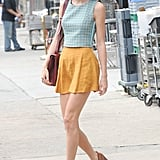 Even when she keeps it casual, Taylor loves to finish off her look with heels.