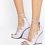 Asos 'Homegirl' Lace Up Wedge Sandal ($77)