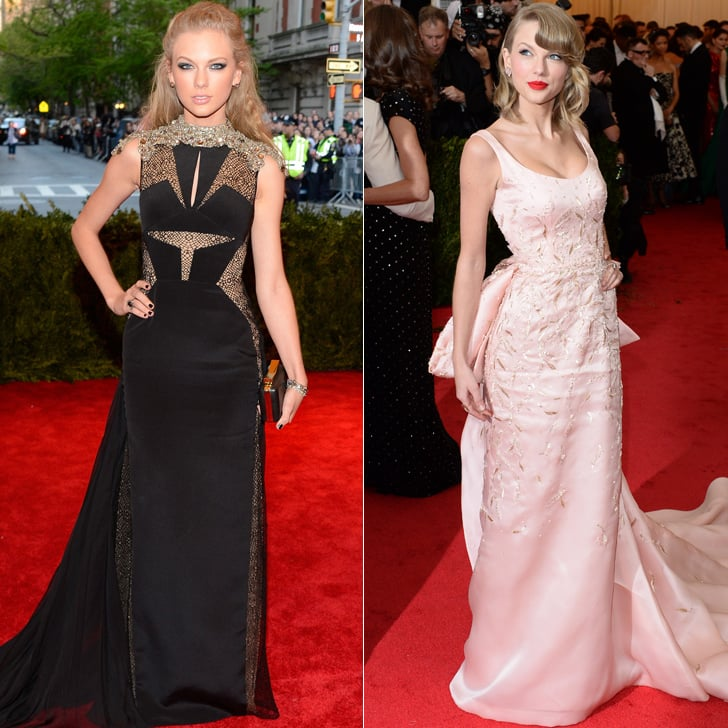 Taylor Swift at the 2013 and 2014 Met Galas