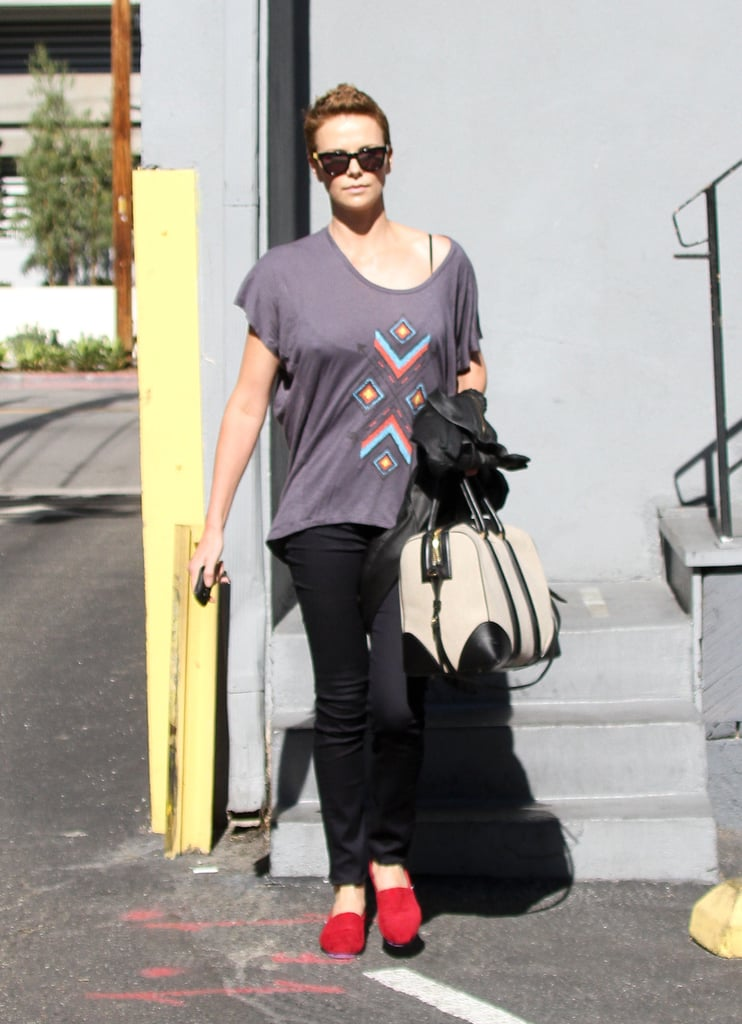 Charlize Theron Tries Out a Different 'Do and Eyes a New Project