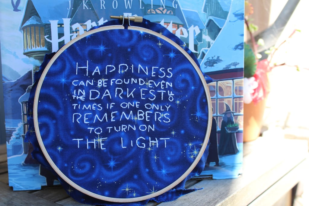 Quote Embroidery Hoop ($15)