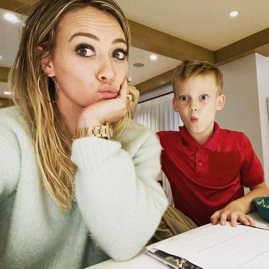 "Hilary Duff Admits Her Son's Homework Is ""No Joke"""