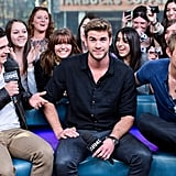 Josh Hutcherson, Liam Hemsworth, and Alexander Ludwig in Toronto for MuchMusic.