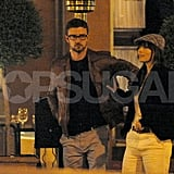 Justin Timberlake hung onto Jessica Biel while vacationing in Europe together.