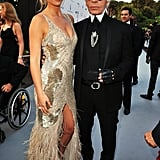Bar Refaeli in Roberto Cavalli and Karl Lagerfeld