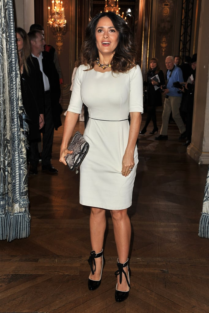 Salma Hayek attended the Stella McCartney Fall 2012 show.