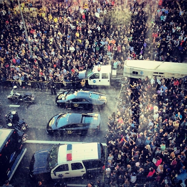 "It was a Batkid frenzy on the streets of ""Gotham City."" Source: Instagram user kannkinz"