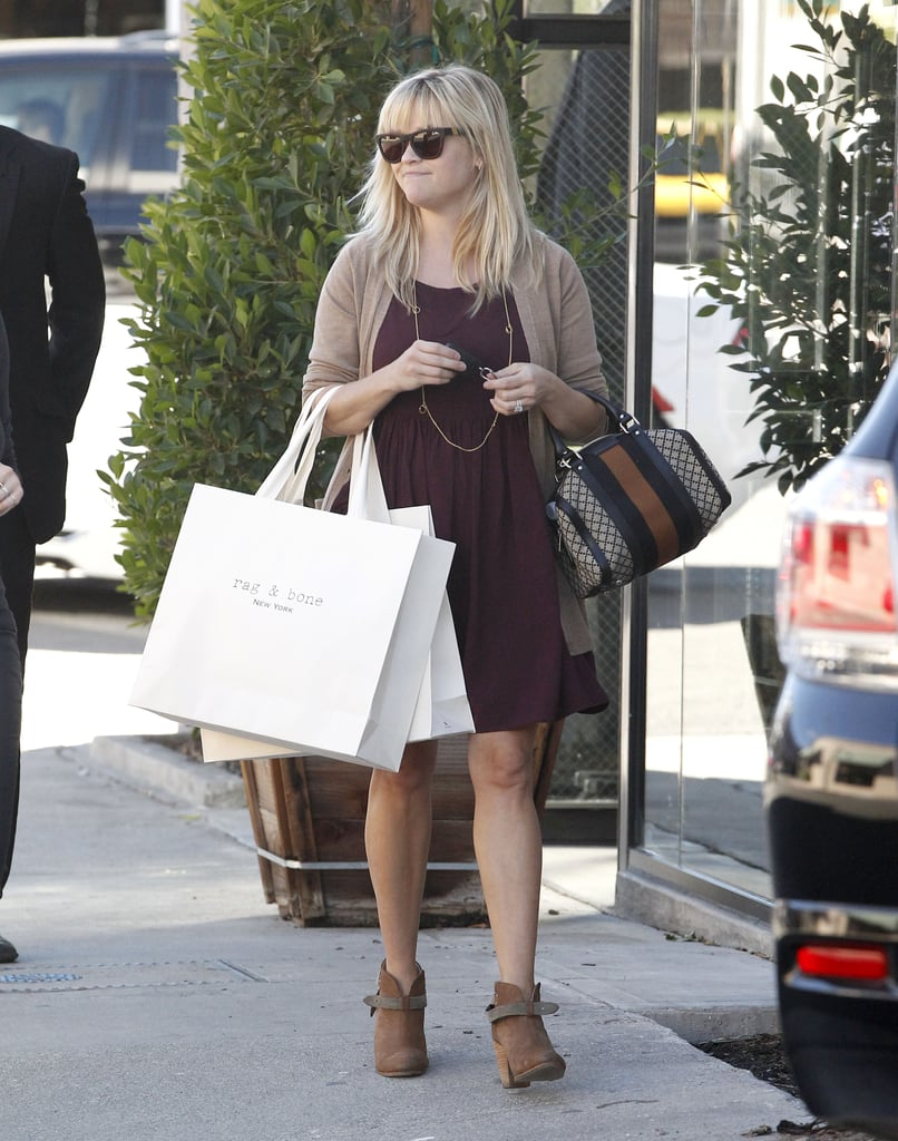 Reese Witherspoon had her hands full in Beverly Hills.