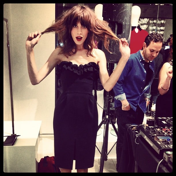Alexa Chung partied in a LBD. Source: Instagram user fabsugar