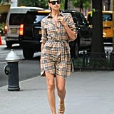 Irina Shayk Walking Around Midtown Manhattan