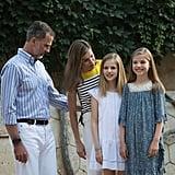 Queen Letizia Summer 2017 Portrait Shirt