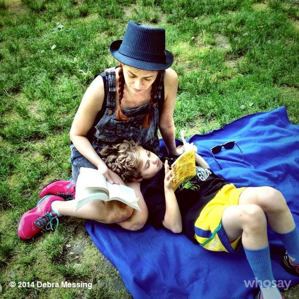 Debra Messing and Roman Zelman celebrated Summer in Central Park. Source: Instagram user therealdebramessing