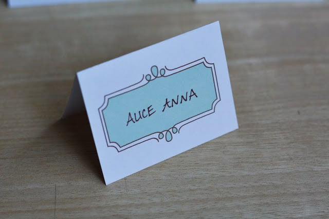 Hand-Drawn Place Cards