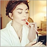 From her braided crown to her bright makeup, Sarah Hyland looked like red carpet royalty. Source: Instagram user therealsarahhyland