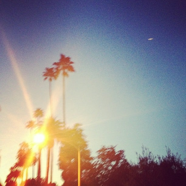 Emma Roberts captured a gorgeous LA sunset.  Source: Instagram user emmaroberts6