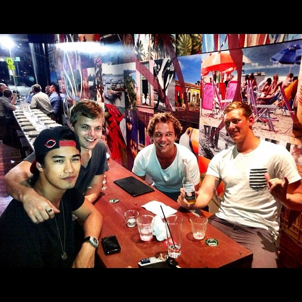 Lincoln Lewis and some of his fellow Home and Away alum enjoyed a boys' night out with lots of food. Source: Instagram user linc_lewis