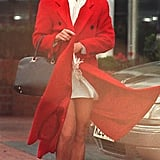 Princess Diana wore a similar pair of chunky trainers with a long statement coat and a tote bag.