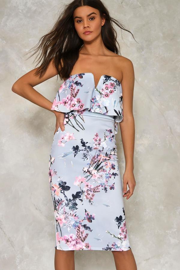 49a26c0145b3 Nasty Gal Spring Affair Floral Midi Dress