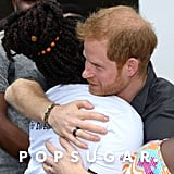 Harry let his emotions take over when he hugged a young girl during a visit to Zambia in 2018.