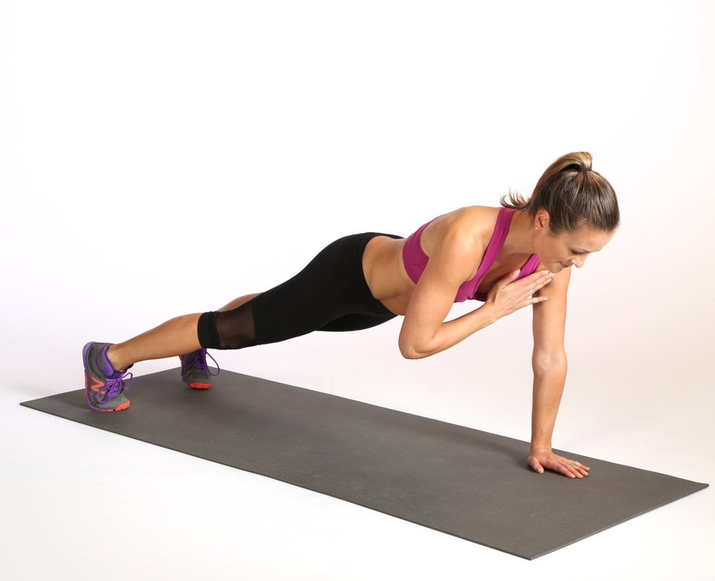 Plank With Shoulder Tap and Knee Drive