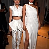 Chloe x Halle Wearing Paule Ka at the Clive Davis Pre-Grammys Party