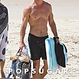 Chris Hemsworth Shirtless Pictures in Australia April 2018