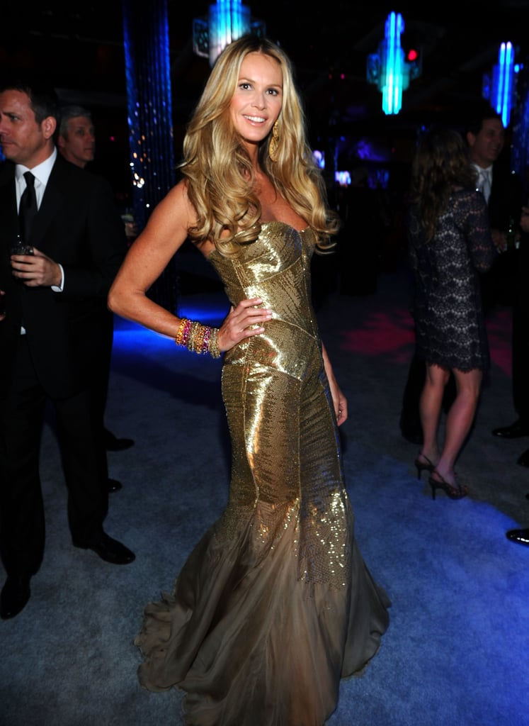 Fashion Star leading lady Elle Macpherson partied after the Golden Globes.