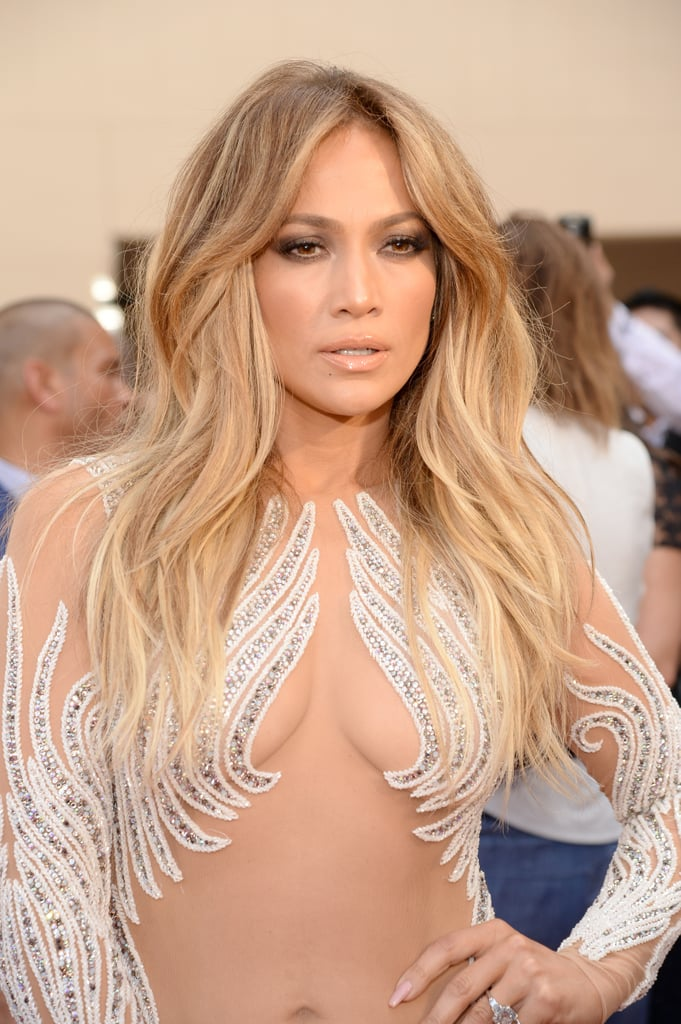 Jennifer Lopez's Curtain Bangs in 2015