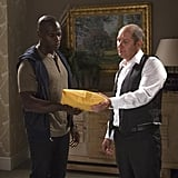 Dembe (Hisham Tawfiq) gives Red a package.