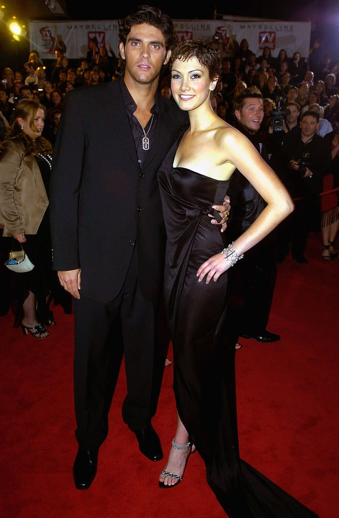 Mark Phillippoussis and Delta attended the 2004 Logies together.