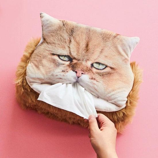 Fluffy Cat Tissue Box