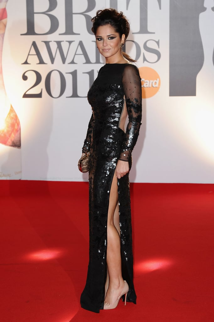 Pictures of Cheryl Cole on Brit Awards Red Carpet 2011