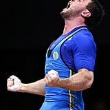 Ukrainian weightlifter Oleksiy Torokhtiy was overcome with emotion after winning gold.