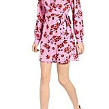 All in Favor Floral Wrap Mini Dress
