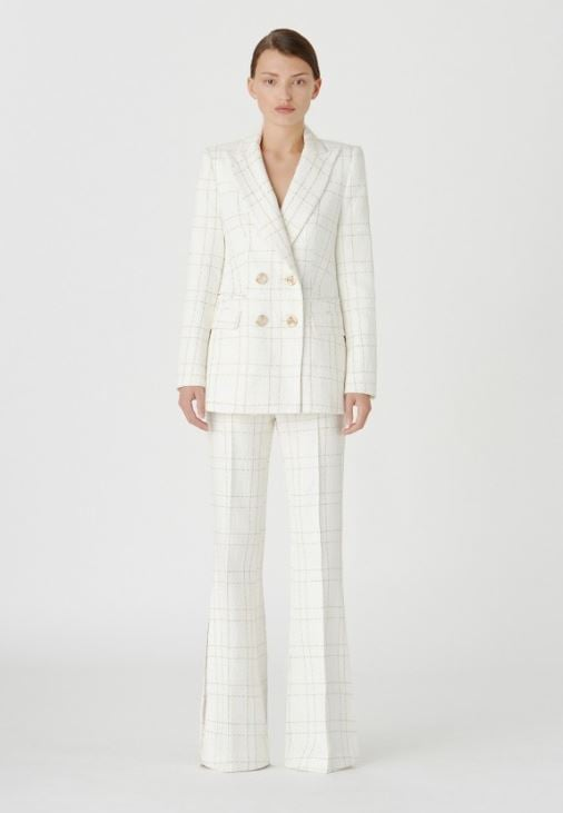 Camilla and Marc Dumas Jacket ($850) and Trousers ($550)