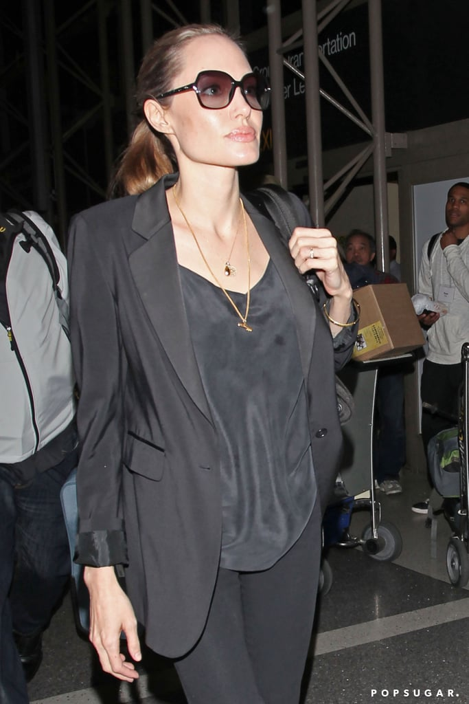 Angelina Jolie jetted out of LA.