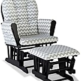 Stork Craft Chevron Hoop Custom Glider Chair amd Ottoman Set
