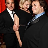 Cameron Diaz got silly with Jack Black and Antonio Banderas at a dinner honoring Jeffrey Katzenberg at CinemaCon in Las Vegas.
