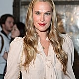 Molly Sims at Zac Posen Spring 2014.