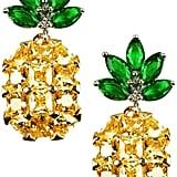 Eye Candy Los Angeles Pineapple Rhinestone Earrings