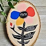 Custom Floral Mom Sign