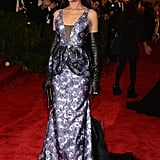 Kerry Washington got behind the Punk: Chaos to Couture theme at the Met Gala in 2013 with this metallic purple Vera Wang creation.