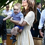 """William on George's lungs: """"He's got a good pair of lungs on him, that's for sure.""""  But William says he's still cute: """"George's pretty loud, but of course very good looking!""""  Prince Harry on George's crying: """"When I saw him he was crying his eyes out, like all babies do I suppose. But it's fantastic to have another addition to the family. I only hope that my brother knows how expensive my babysitting charges are."""""""